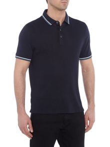 Michael Kors Waffle texture tipped polo shirt