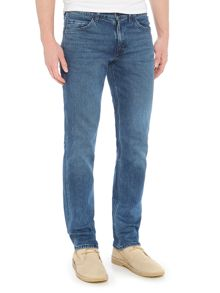 Levi's Line 8 slim straight fit mid wash jeans