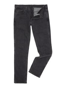 Levi's Line 8 slim straight fit black jeans