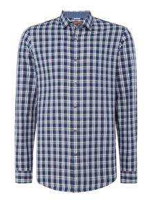 Michael Kors Landon slim fit check shirt