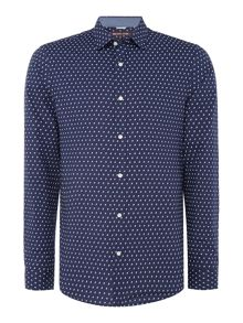 Michael Kors Slim fit finn geo print shirt