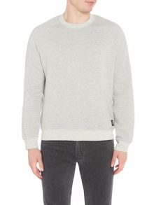 Levi's Line 8 crew neck marl sweat top