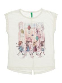 Benetton Girls Girls Crossing Short Sleeve T-Shirt