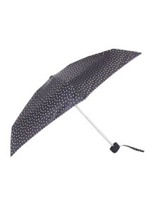 Lulu Guinness Lulu Guinness foil mini lip print tiny umbrella