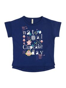 Benetton Girls Cupcake Short Sleeve T-shirt