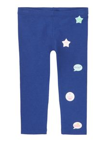 Benetton Girls Applique Badge Leggings