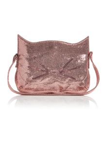 Benetton Girls Sparkle Cat Face Pouch Bag