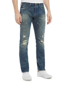 Denim and Supply Ralph Lauren Distressed mid wash slim fit jeans