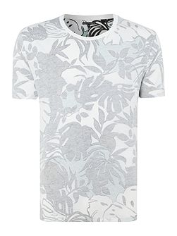 Line 8 inside out tropical print t-shirt