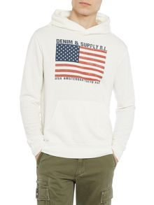 Denim and Supply Ralph Lauren American flag hoody