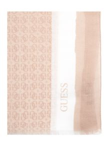 Guess All over logo long scarf