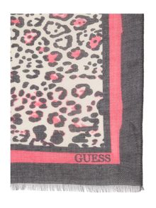Guess Leopard print long scarf
