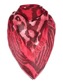 Guess Leopard print square scarf