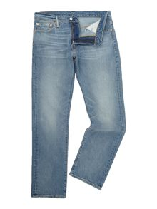 Levi's 504 regular straught fit mid wash jeans