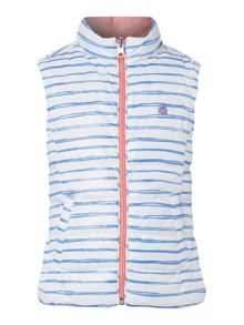 Benetton Girls Reversible Stripe Gilet