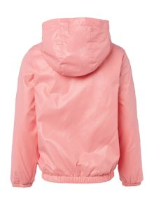 Benetton Girls Hooded Zip Up Windbreaker Jacket
