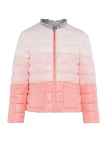 Benetton Girls Zip Up Ombre Padded jacket