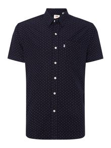 Levi's 1 pocket short-sleeve patterened shirt