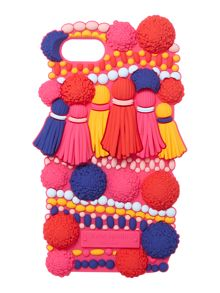 Kate Spade New York Silicone pom pom iphone 7 case