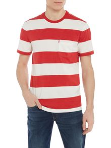 Levi's Sunset pocket striped crew neck t-shirt