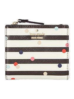 Cameron street small stripe zip around purse