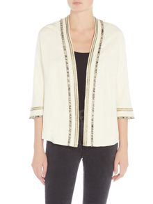 Suncoo Dario Embellished Collar Jacket