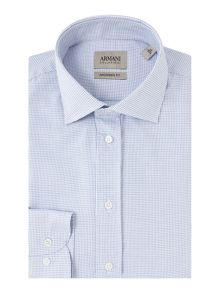 Armani Collezioni Classic-Fit Checked Shirt