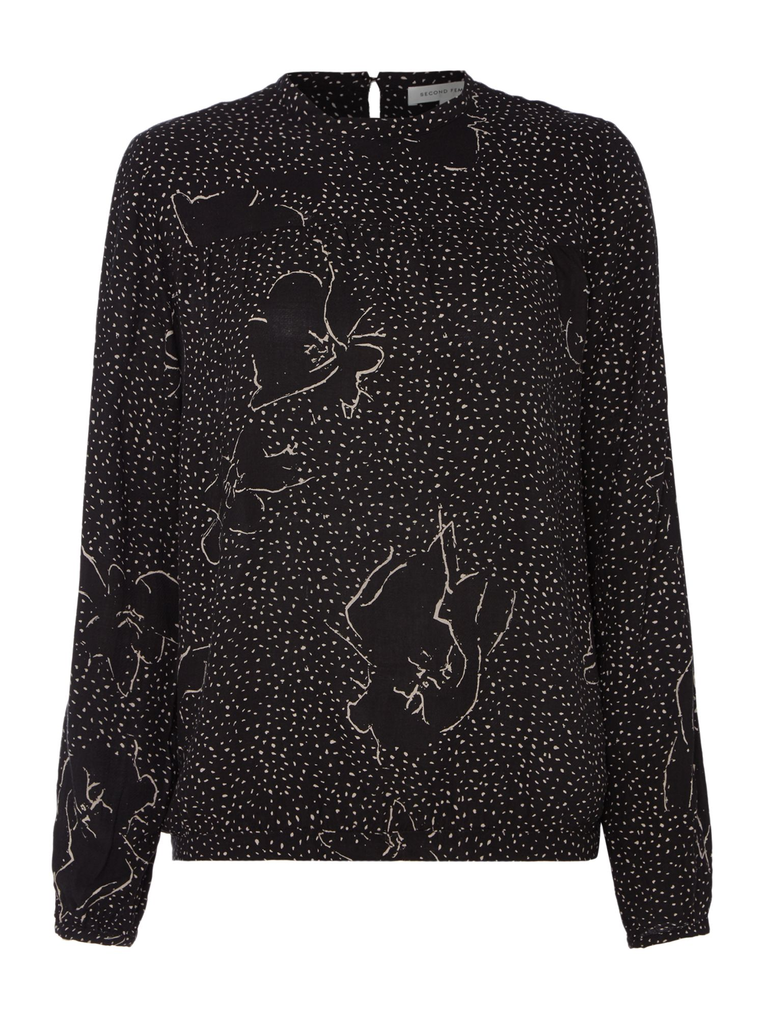 Second Female Tally Blouse, Black