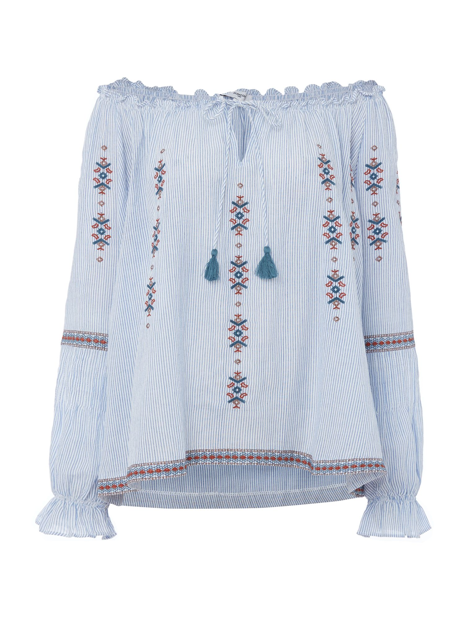 Suncoo Leisa embroidered blouse, Blue