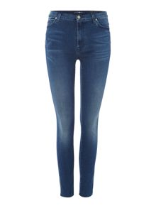 7 For All Mankind Skinny Jeans in Slim Illusion Bright Blue