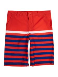 Polo Ralph Lauren Boys Solid Stripe Beach Swim Shorts