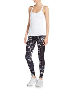 Dharma Bums Full length shattered marble compression legging