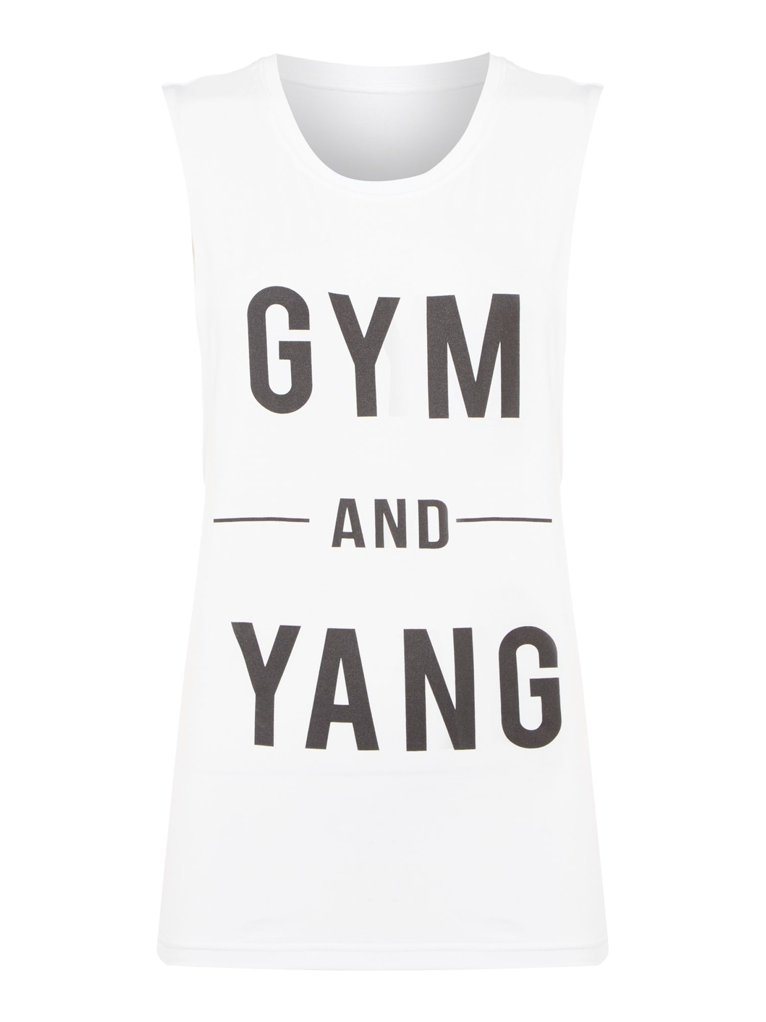 Dharma Bums Gym and yang tank top, White
