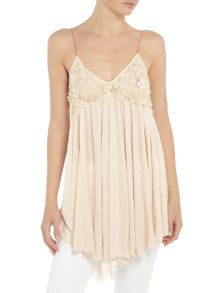 Free People Floaty Cami in neutral
