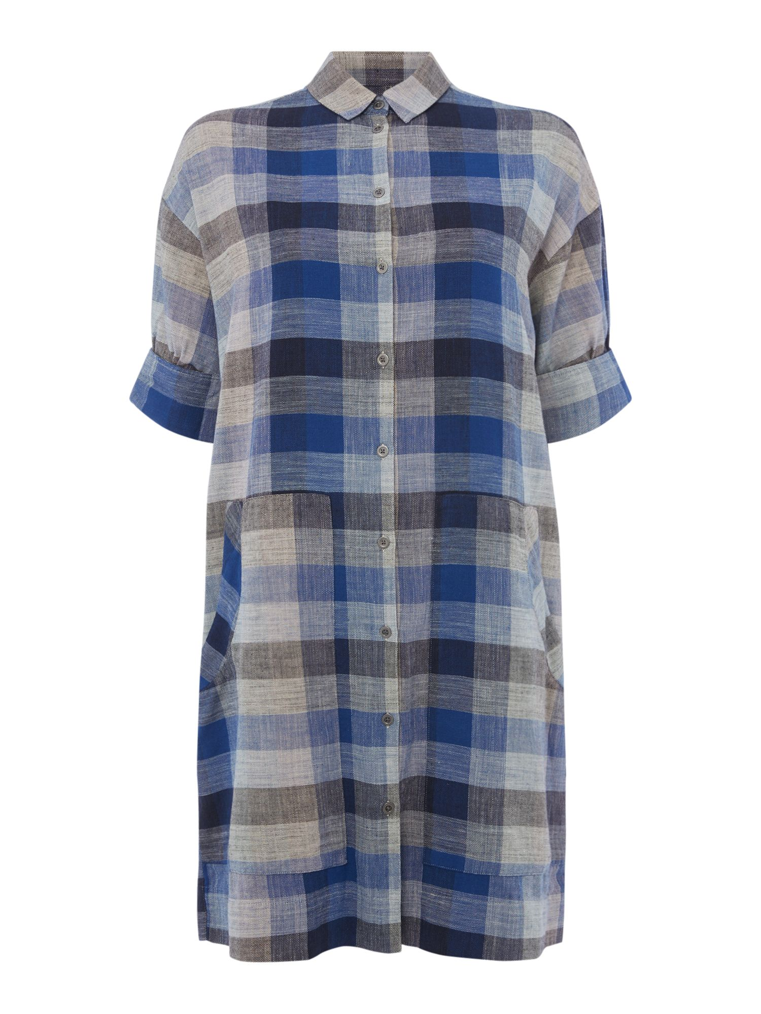 Maison De Nimes Picnic check shirt dress, Blue