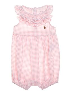 Baby Girl Gingham Frill All In One