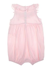 Polo Ralph Lauren Baby Girl Gingham Frill All In One