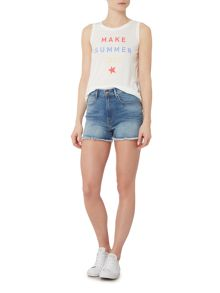 Levi's Cut-off Denim Shorts in Fading Light