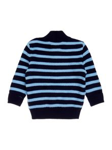 Polo Ralph Lauren Baby Boy Half Zip Polo Stripe Sweater