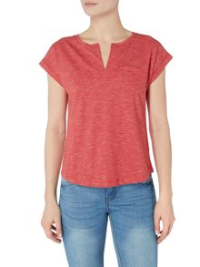 Part Two Thin stripe t-shirt with pocket detail