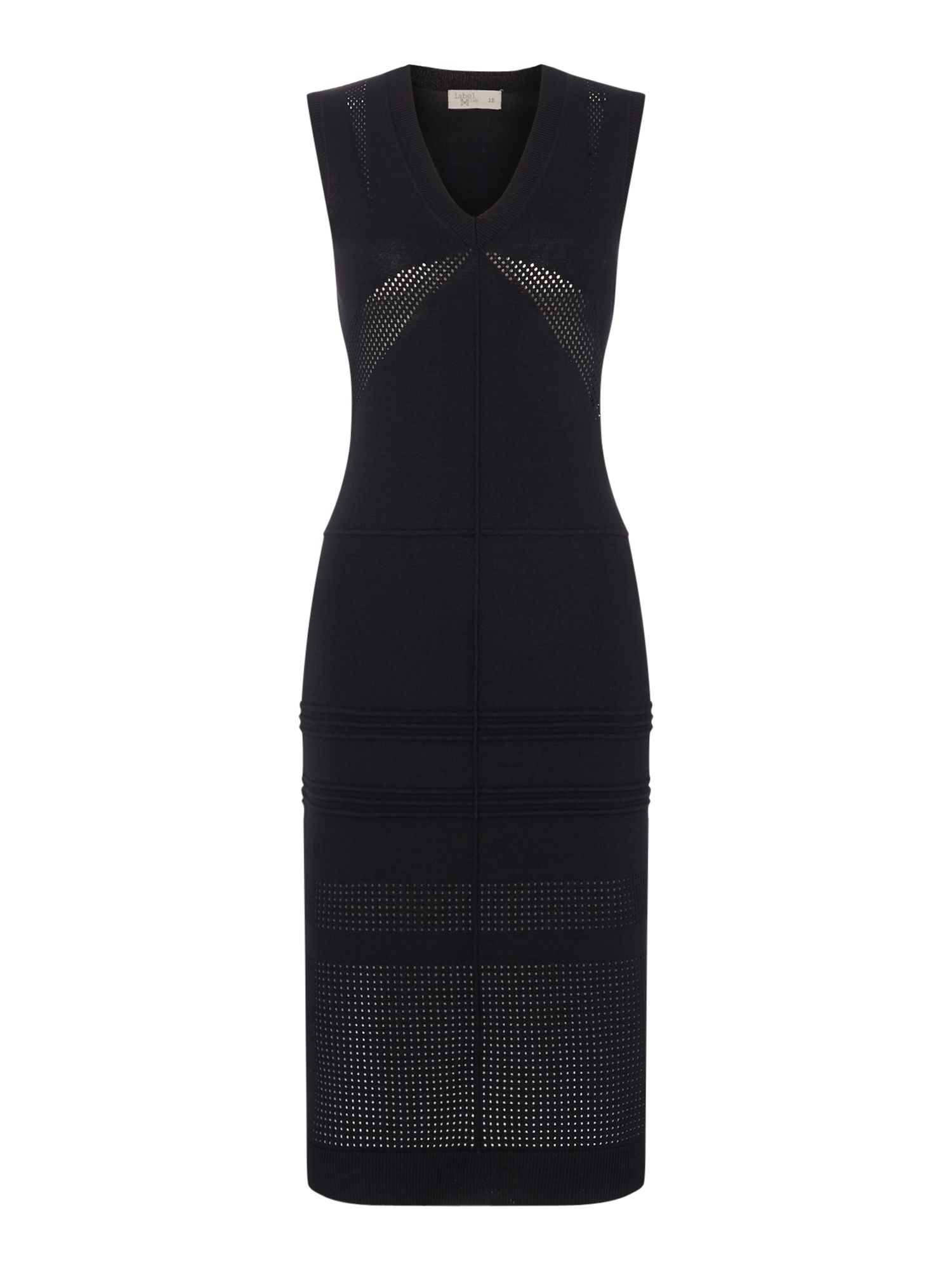 Label Lab Sporty Dry Knit Coloumn Dress, Black