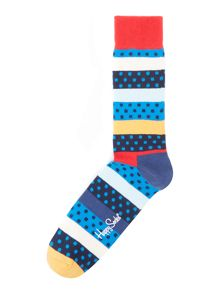 Happy Socks Dotted Stripe Sock