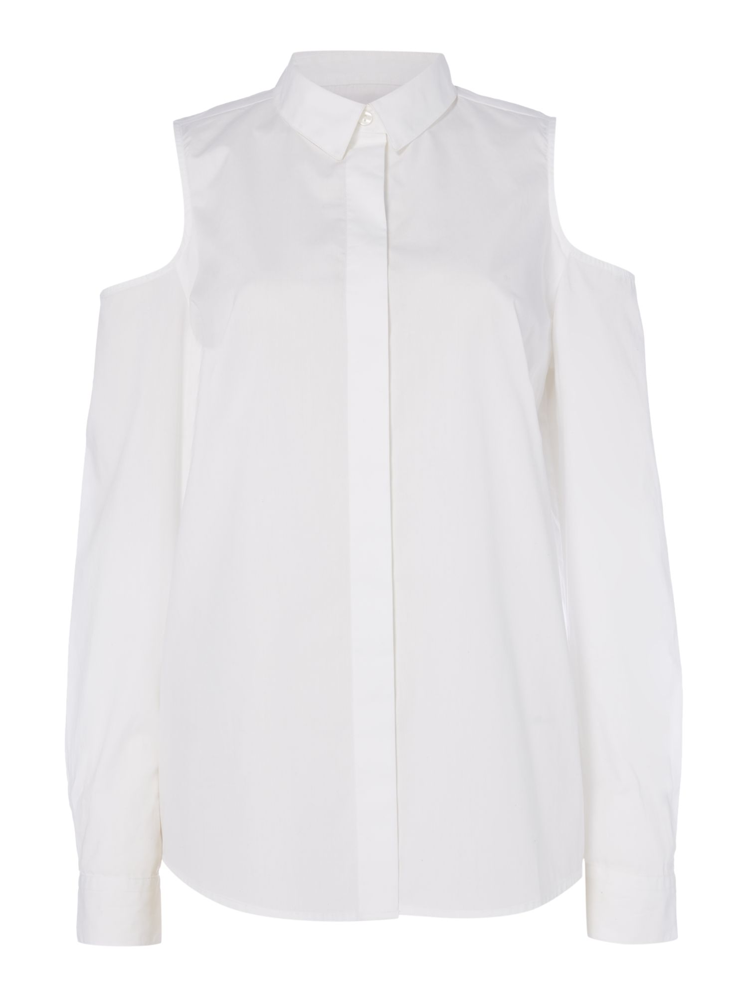 Label Lab Cold Shoulder Shirt, White
