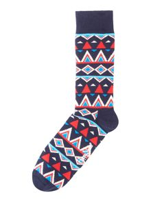 Happy Socks Aztec Temple Sock