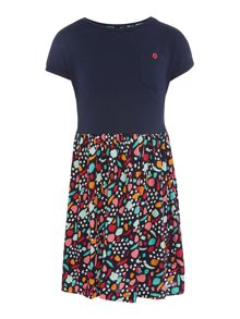 Benetton Girls Ditsy Floral Short Sleeve Dress