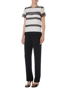 Michael Kors Shortsleeve graphic stripe t-shirt