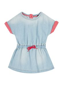 Benetton Girls Cord Draw Waist Denim Dress