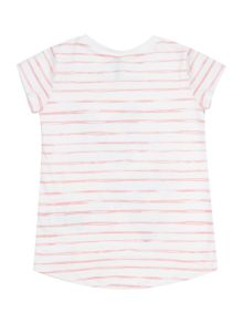 Benetton Girls Glitter Butterfly Stripe T-Shirt