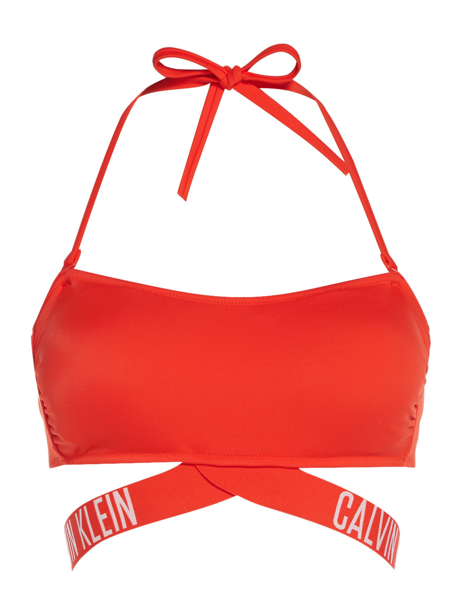 Calvin Klein Intense power bandeau bikini top, Red