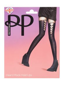 Pretty Polly Graduated Heart Mock Hold Up